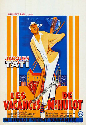 Reproduction affiche VACANCES DE MONSIEUR HULOT (l - TATI - Jacques TATI