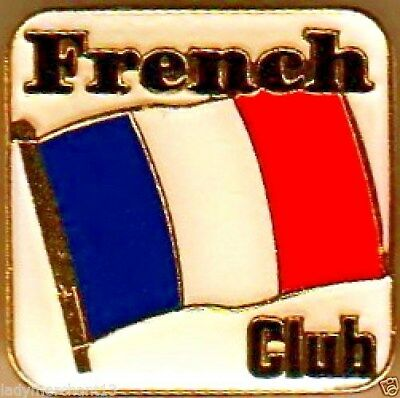 """FRENCH CLUB"" Enamel Lapel Pins/WHOLESALE LOT OF 25/ALL NEW LINE"