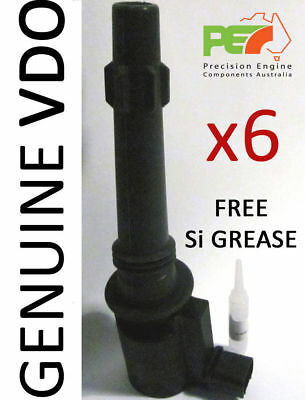 6x * VDO * Ignition Coil + FREE Si Grease For FORD Falcon BA BF FG Territory LTD