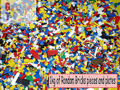Lego 1kg Assorted Bricks, Parts and Pieces - Starter Set - Bulk Clean Genuine