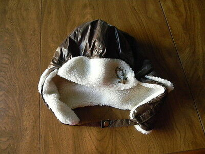 Womens One Size Claires Brown Pilot ? With Reindeer Embellishment Hat NWT $20