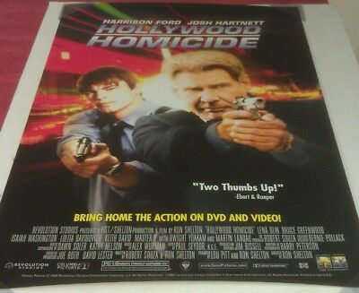 HOLLYWOOD HOMICIDE DVD MOVIE POSTER 1 Sided ORIGINAL 27x40 HARRISON FORD