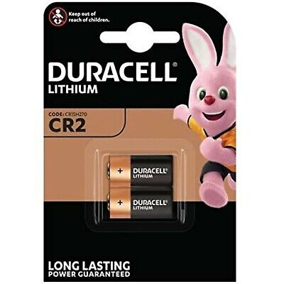 2 x DURACELL ULTRA CR2 3V  LITHIUM CAMERA PHOTO BATTERIES  1 x 2 pack DATED 2028