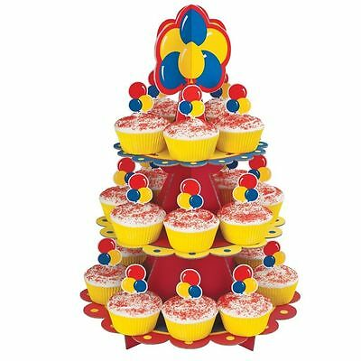 Wilton Primary Colours Balloon Theme Birthday Party Cupcake Stand Kit