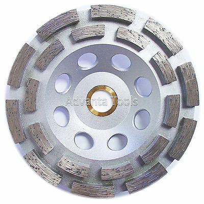 """5"""" Standard Double Row Concrete Diamond Grinding Cup Wheel for Angle Grinder"""