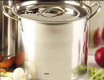 Deep Stainless Steel Stock Soup Pot Stockpot 6Lt 8.2 Lt 11.2 Lt 15.2Lt And 17.2T