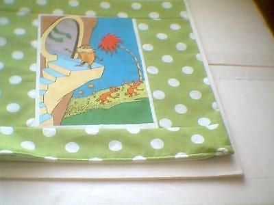 """Pillow COVER 16"""" Dr. Seuss The Lorax standing on stairs"""