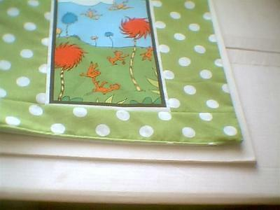 """Pillow COVER 16"""" Dr. Seuss The Lorax bears and birds"""
