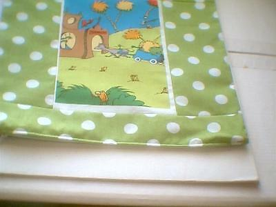 """Pillow COVER 16"""" Dr. Seuss The Lorax harvesting trees"""