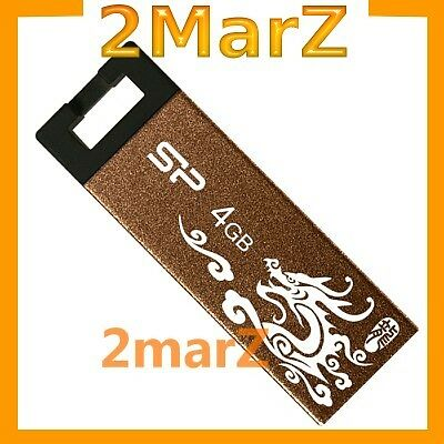 Silicon Power 836 Touch 4GB 4G USB Flash Drive Disk T836 Metal Limited Dragon