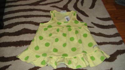 Nwt New Naartjie S 4 Yrs Yellow Green Polka Dot Shirt