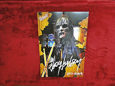 Slipknot *Joey Jordison* Pro Mark Poster    NEW    RARE