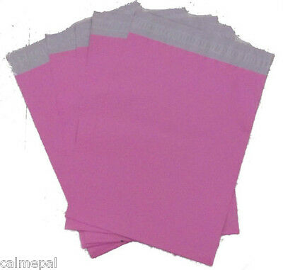 "PINK PLASTIC POSTAL POST  MAILING BAGS 10 x SIZE 9"" x 12"""