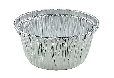 50/PK - 4 oz. Aluminum Foil Muffin/Utility/Ramekin Cups - Disposable Cupcake Tin
