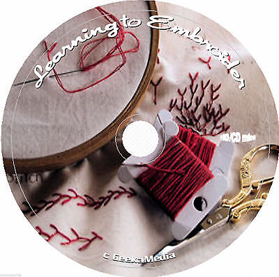 Embroidery designs 250+ pattern CD hand vintage stitches ribbon book library lot