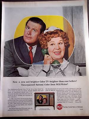 1964 RCA Victor New Vista TVs Shirley Booth vintage ad