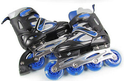 Br New Youth/boy/girl Inline Skates Roller Blades Adjustable Size Pink/red/blue