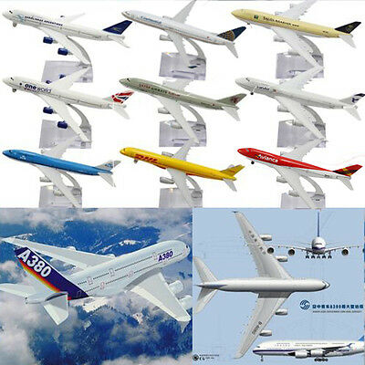 16CM Metal Plane Model Aircraft Boeing Diecast Airlines Aeroplane Scale Desk Toy