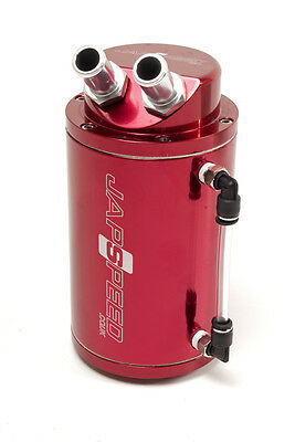 Japspeed Universal Fitment Oil Catch Tank Kit Breather Pipe Setup - Red