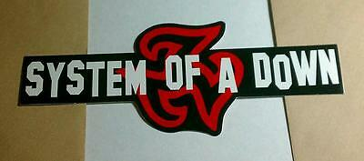 SYSTEM OF  A DOWN LOGO STREETWISE GUITAR CASE VERY RARE PROMO STICKER