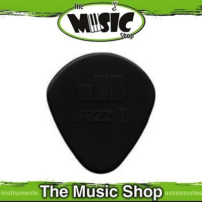 20 x Jim Dunlop Nylon Jazz 1 Guitar Picks - 1.10mm with Round Tip - Black