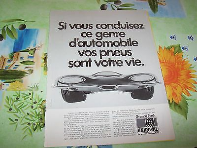 Publicité magazine / Original Advertising UNIROYAL 1970 //