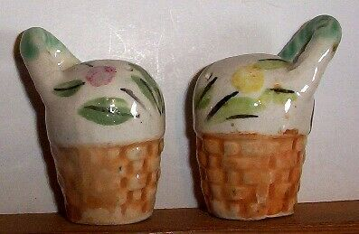 Flowers in Pot with Handle -  Salt & Pepper Shakers