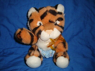 Russ plush Baby Tiger Tiffy W/Pacifier HTF 6""