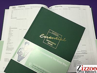 Collins Essential Eab1 Account Book A4 With 72 Pages - Rrp £22.99!
