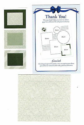 Creative Memories Olive Green Patterns Page Completion Kit Bnip & Nla