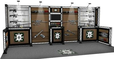 10X20 Gun Rifle Trade Show Display Rifle Rack Gun Rack  Shot Show Display