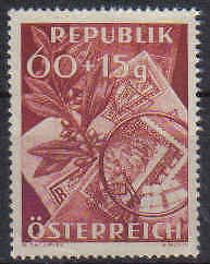 STAMPS   from  AUSTRIA    1949 STAMP DAY      (MINT no GUM)  lot  452a