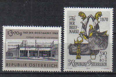 STAMPS   from  AUSTRIA    1963 & 1970  STAMP DAY     (MNH)  lot  454a