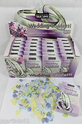Traditional Paper Shapes Wedding Confetti X 24 Boxes Throwing Decoration Colour