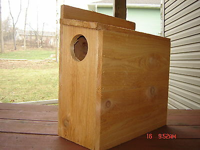 Cedar Squirrel Nesting Box/ Squirrel House. Handmade In The USA