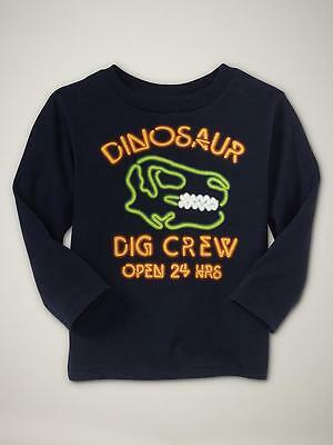 Nwt 18-24 Mon. Awesome Baby Gap Blue Neon Dinosaur Shirt T Cool Top Great Gift!