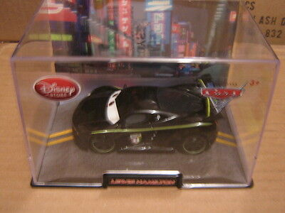 Disney Pixar Cars 2 Disney Store Lewis Hamilton  W/ display