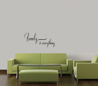 Family Is Everything Home Decor Wall Quote Decal Vinyl Words Lettering