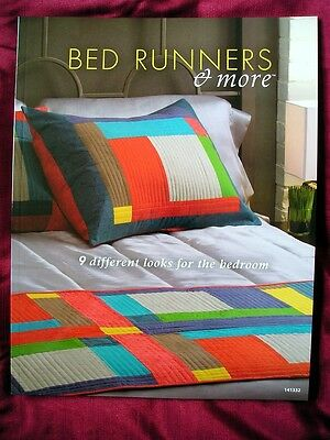 BED RUNNERS & MORE - 9 Runners & Pillows to Quilt for the Bedroom Carol S Vagts