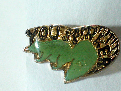 Vintage 'You Stinker' Skunk Enamel Pin (1 skunk the seagreen)