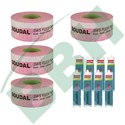 Fenster-Set 1: 100 mtr. Fensterdichtband SWS Flexi Tape Inside 70mm