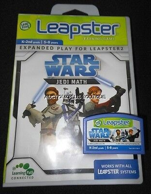 LEAPFROG LEAPSTER STAR WARS JEDI MATH LEARNING GAME CARTRIDGE LEAP 2 LMAX