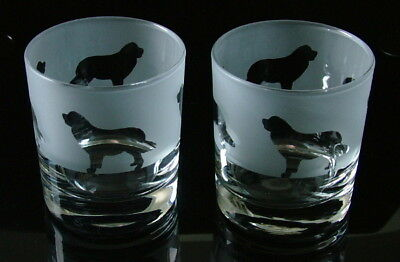 Newfoundland Dog gift Whisky Glasses