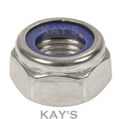 Nyloc Nylon Insert Locking Nuts A2 Stainless Steel M2.5,3,4,5,6,8,10,12,16,18,20