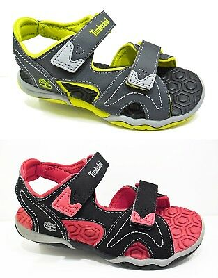 NEW Boys TIMBERLAND Sandals Summer Shoes 2-Strap Fastening Kids Size 3.5 - 2.5