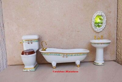 1:12 Scale Dolls House 4 Piece Bathroom set