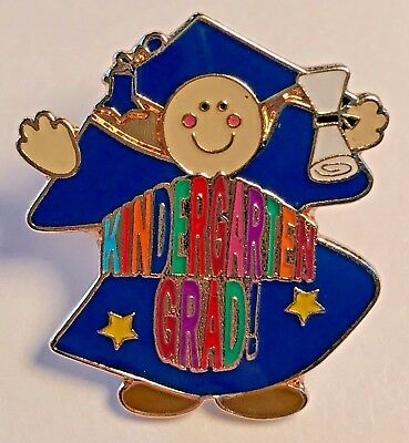 """Kindergarten Grad!"" Colorful Lettering/Grad Student Lapel Pins (Lot of 25) NEW!"