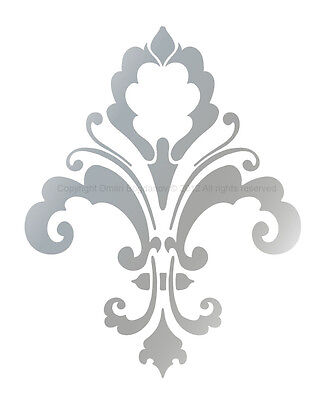 FLEUR DE LIS Designer Wall Decorative STENCIL CHIC DECOR Damask Mural #3004