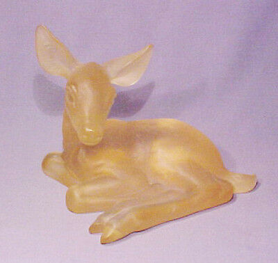 Rare Vintage Signed Anthony Freeman McFarlin Acrylic Deer Fawn Mold Model