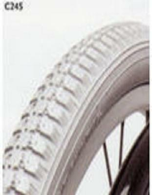 "1 PAIR 24"" x 1 3/8"" Grey Wheelchair Tyres 37-540  VAT EXEMPT"